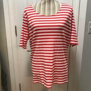Lauren Ralph Lauren Striped 3/4 Sleeve Top Size 2X